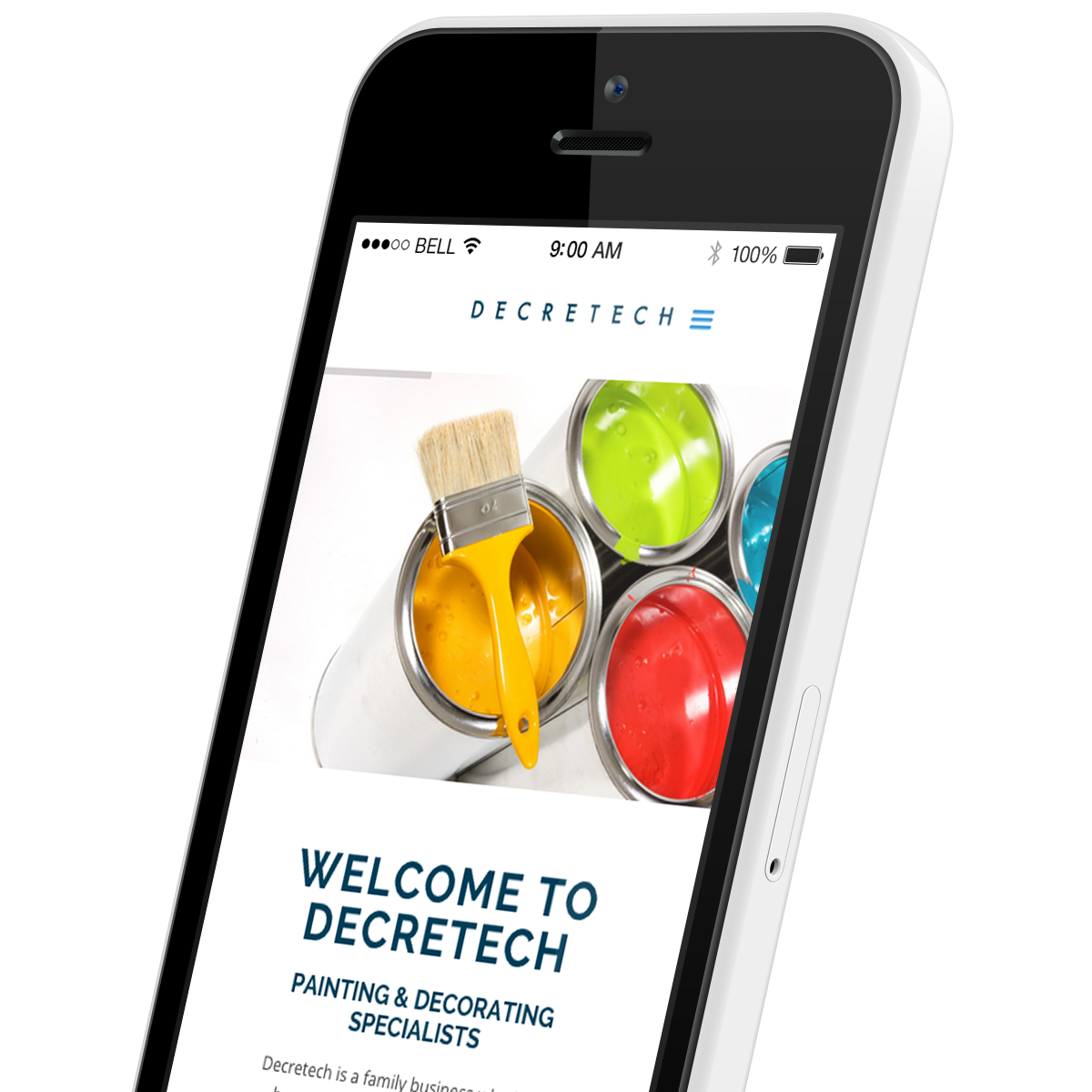 Promoworx - Decretech White iPhone