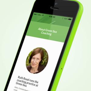 Promoworx - Green Sea Coaching iPhone Website