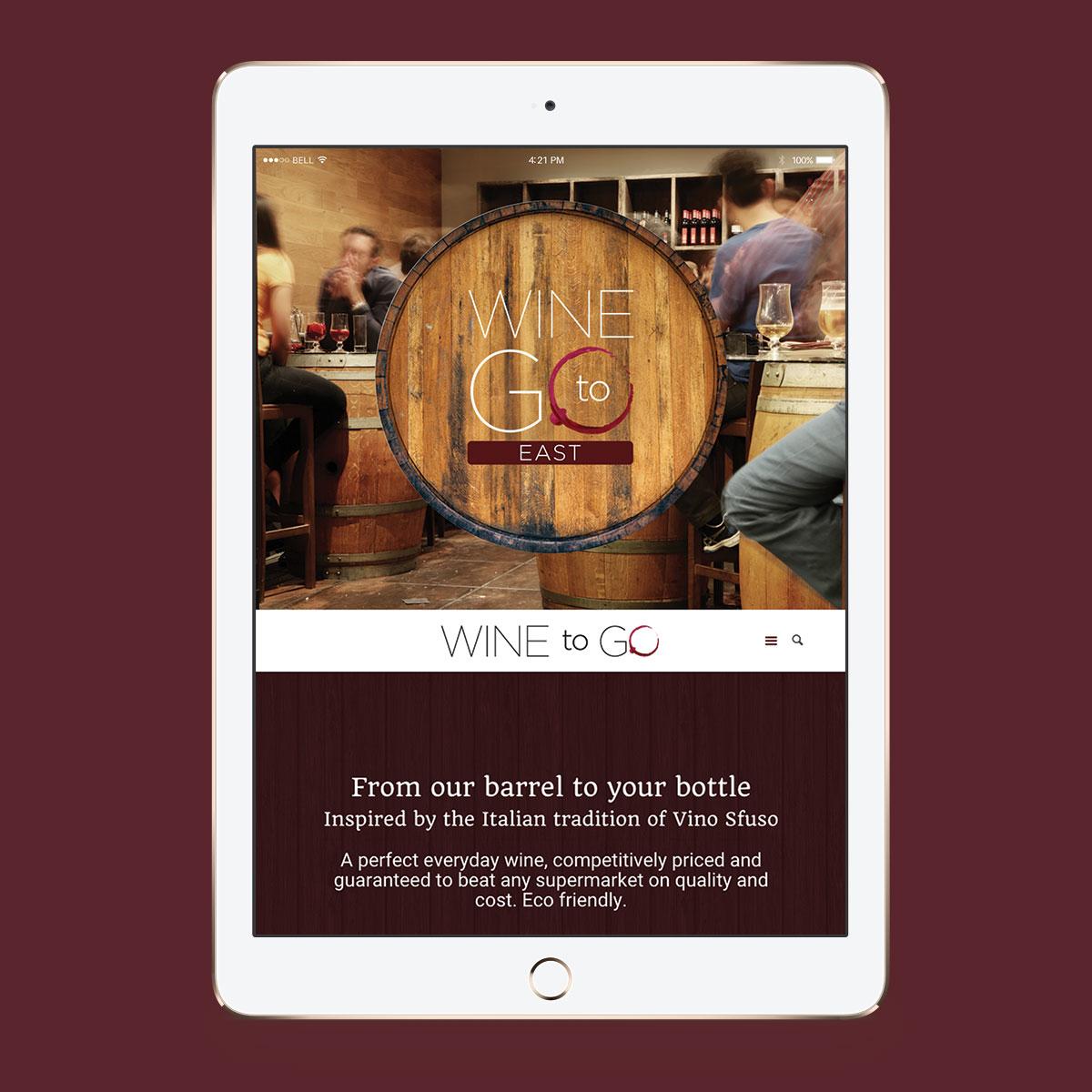 Promoworx - Wine to Go iPad Website