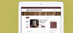 Woodford Wine Room - iPad Shop Mockup