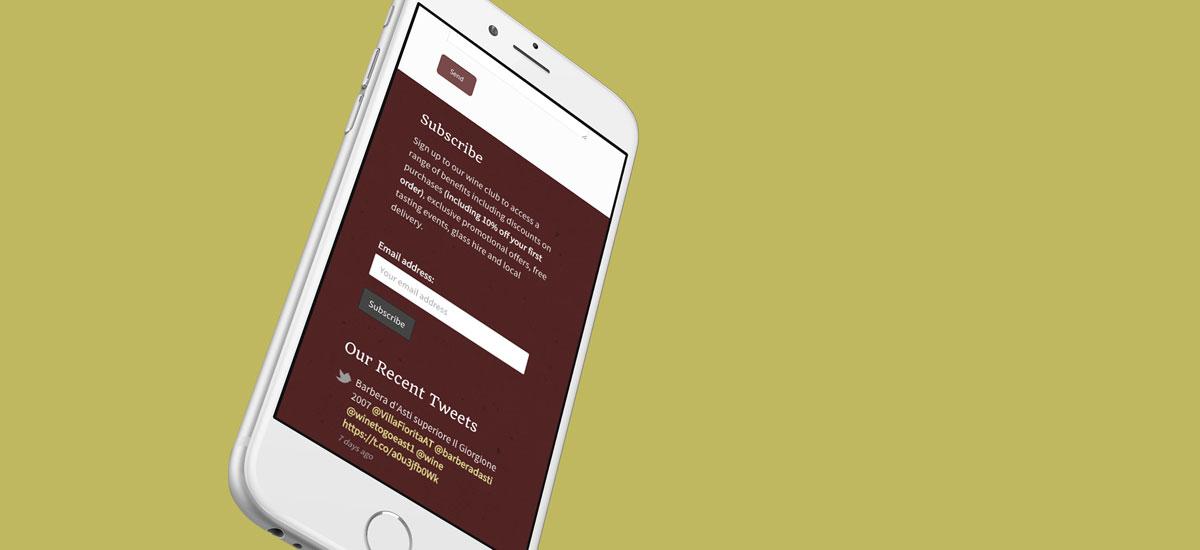 Woodford Wine Room - iPhone Mockup