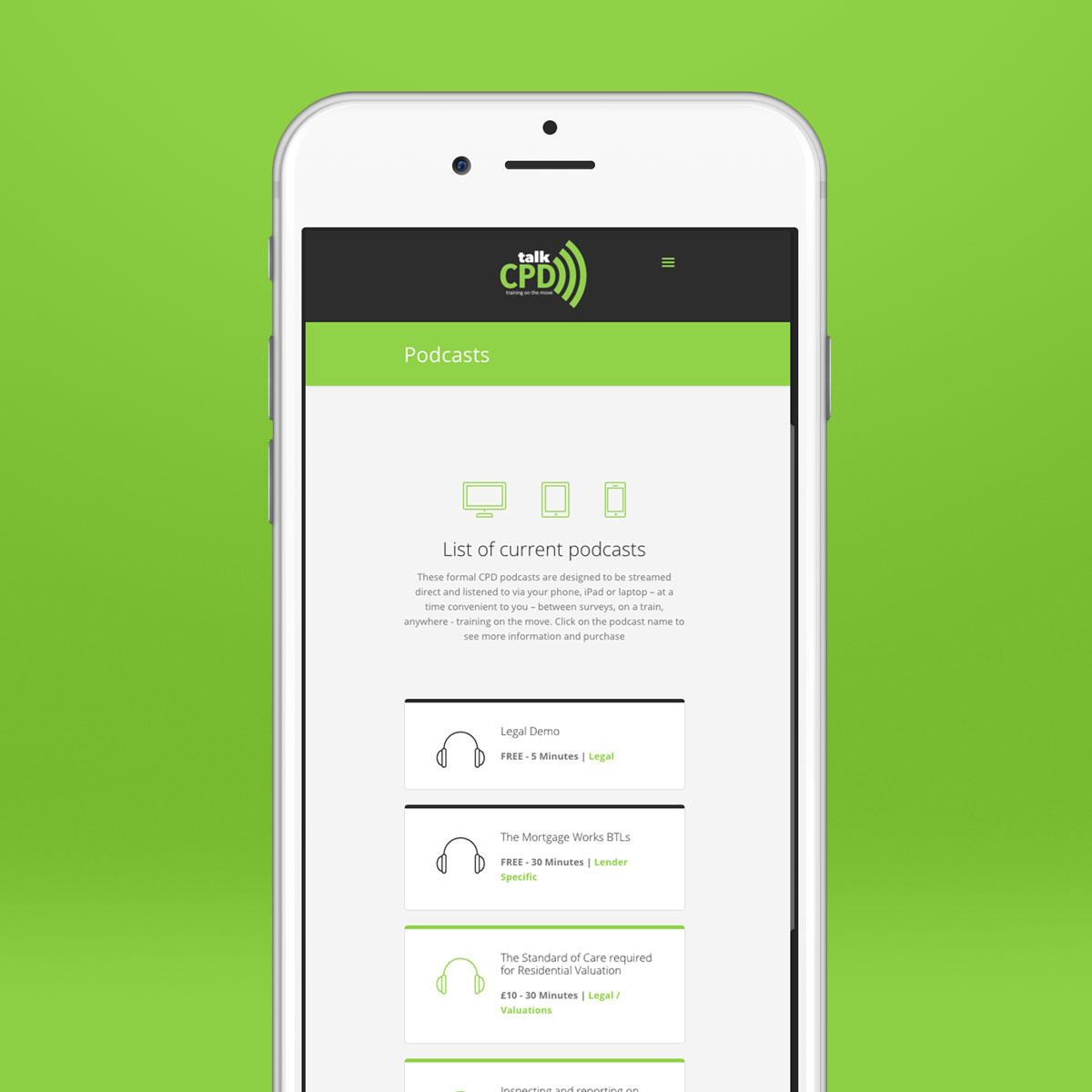 talkCPD - Responsive Website
