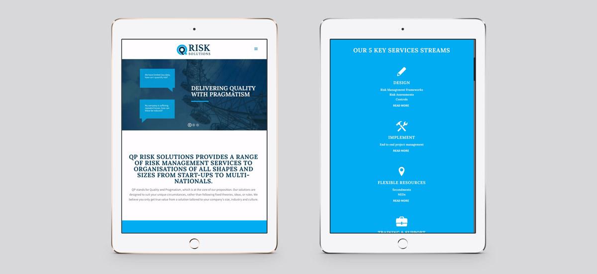 Promoworx - QP Risk Solutions iPad Website