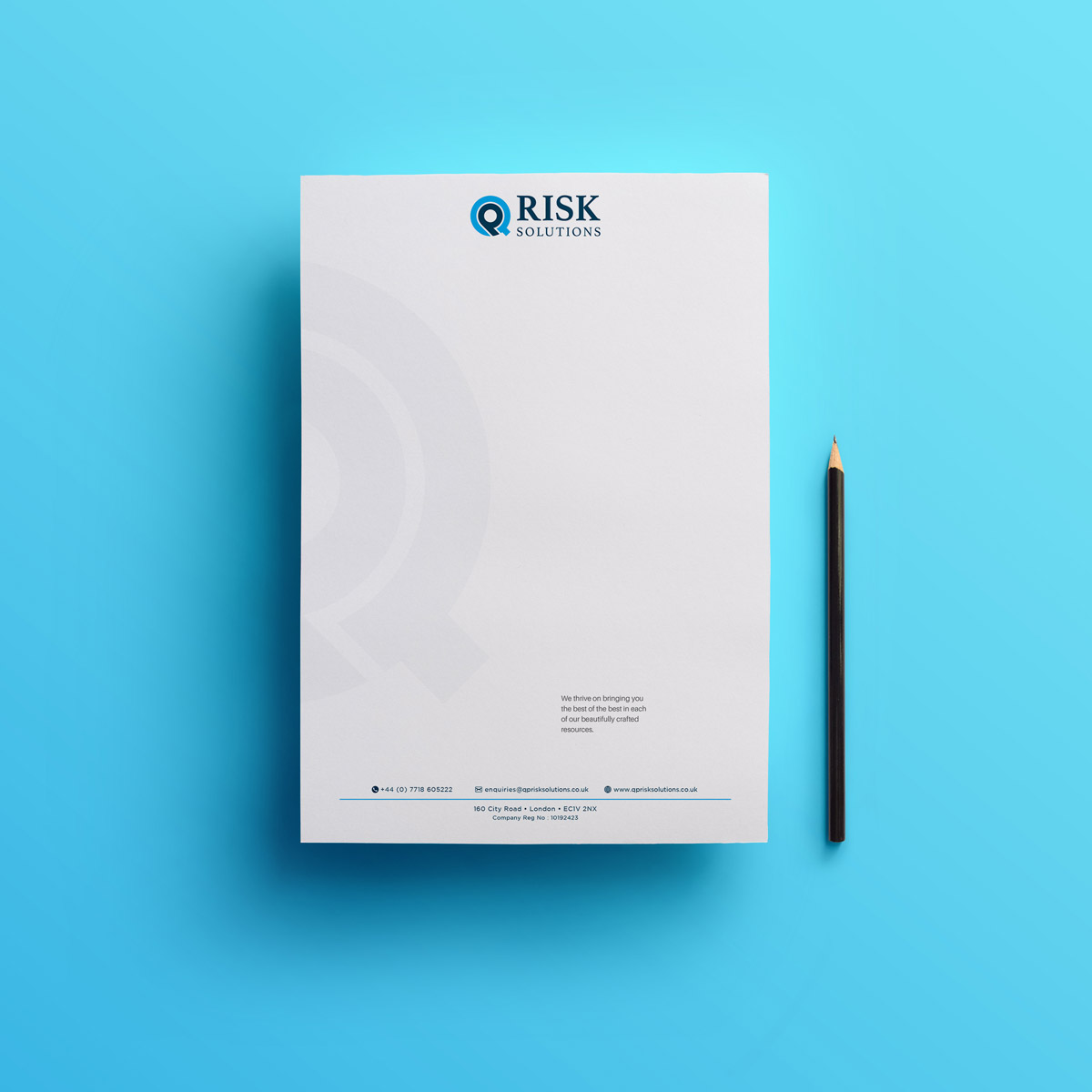 Promoworx - QP Risk Solutions Letterhead Design