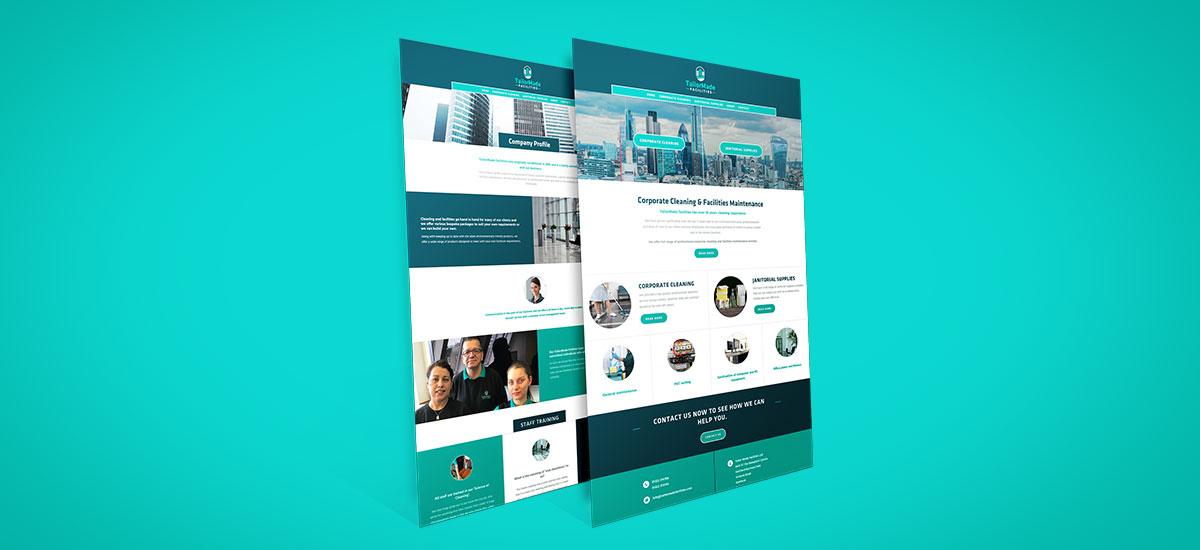 Promoworx - TailorMade Facilities Website Desktop Wireframe
