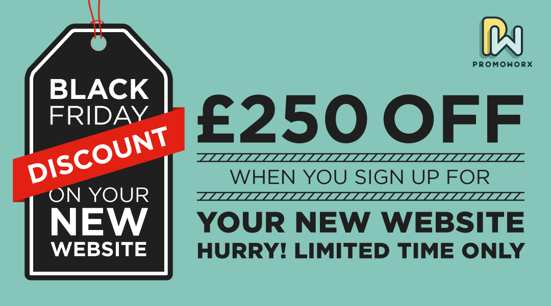 £250 Black Friday Discount On New Websites